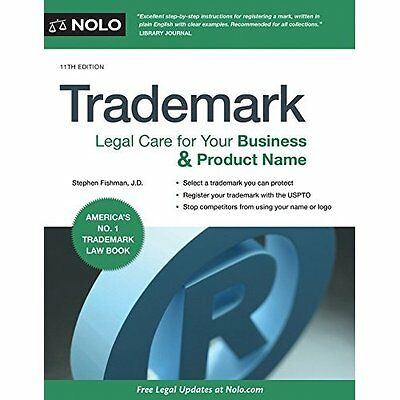 Trademark: Legal Care for Your Business & Product Name - Paperback NEW Stephen F