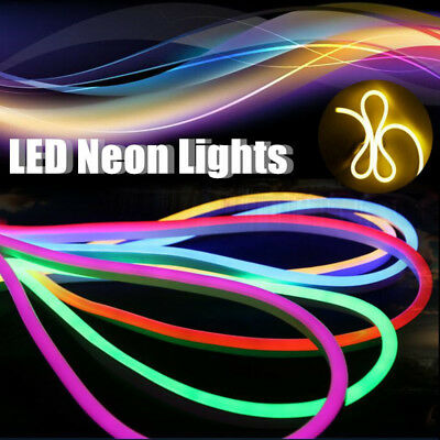 1M-30M LED Flexible Neon EL Rope Glow Wire String Strip Light Tube Dance Party