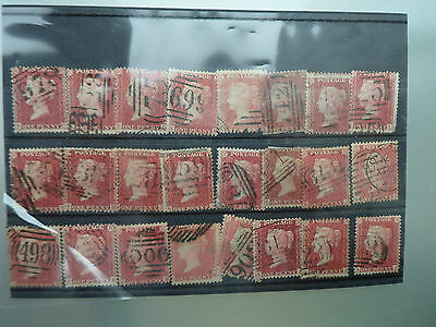 Penny Red 1D Mix Stamp Lot 24 Stamps Total Free Uk Post