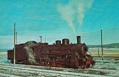 """card LOCOMOTIVE from series """"RUSSIAN DECAPODS"""" for use in Siberia in WWII"""