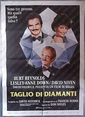 1980 TAGLI DI DIAMANTE Rough cut - Burt REYNOLDS David NIVEN *Manifesto 100x140