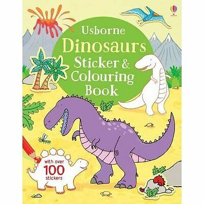 Dinosaurs Sticker and Colouring Book (First Colouring B - Paperback NEW Sam Tapl