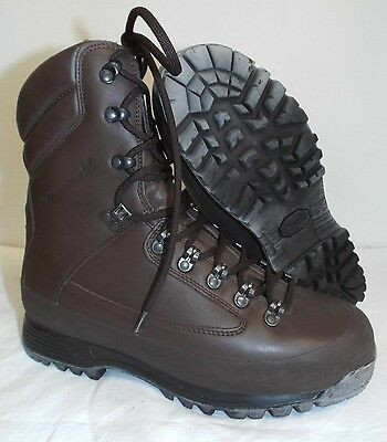 KARRIMOR SF BROWN LEATHER COLD WET WEATHER BOOTS - 9 Medium , British Army