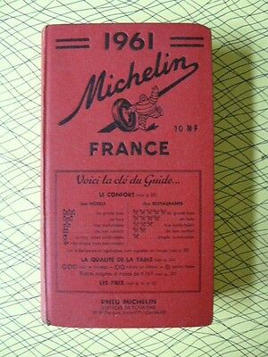 Tres Beau Guide Rouge Michelin 1961
