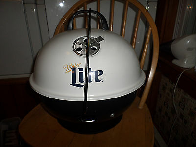 Unused NOS Promotional Miller Lite Tailgate Table Top Style Dome Charcoal Grill