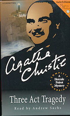 Audio book - Three Act Tragedy by Agatha Christie   -    Cass