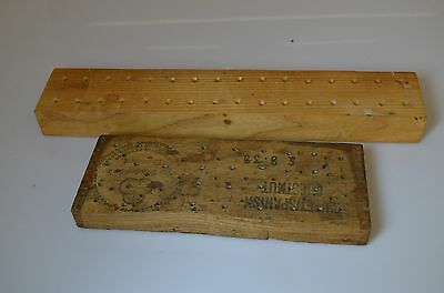 2 Wooden Mandrel Holders GREAT CONDITION