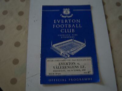 Everton V Valerengens If 65/6 Fairs Cup