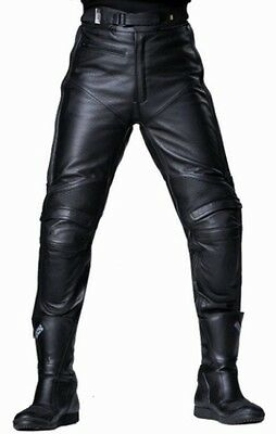 PANTALONI IN PELLE DA MOTO IXS DAVID PRO tg S donna (40/42 LEATHER TOURING PANTS