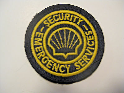 Nos Vintage Shell Gas & Oil Security Emergency Advertising Unsewn Cloth Patch