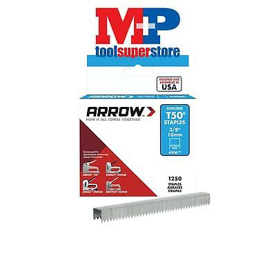 Arrow T5038S T50 Staples 10mm (3/8in) Box 1250