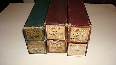 Vintage Player Piano Roll 6 Lot The Bells of St. Mary Japanese Sandman
