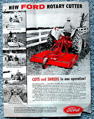 Ford Rotary Cutter Model 2260 Sales Leaflet 1960s vintage meec