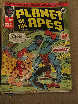 Marvel Comic Planet Of The Apes No 24 April 5Th 1975