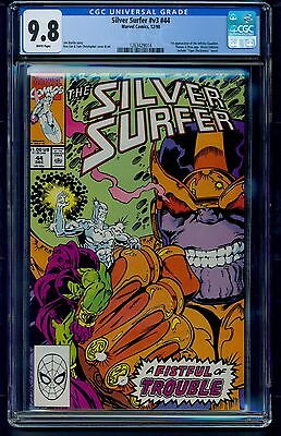 Silver Surfer #v3 #44 (1990) CGC Graded 9.8 ~ 1st App of the Infinity Gauntlet
