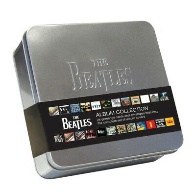 The Beatles Album Cover Note Cards in Tin Box Case - Set of 25 - A great gift!