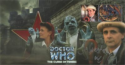Doctor Who The Curse Of Fenric Collectable Stamp Cover Signed SYLVESTER McCOY
