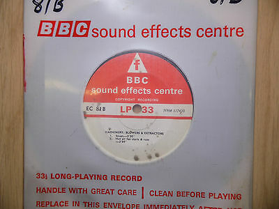 "BBC Sound Effects 7"" Record - Machinery, Blowers & Extractors, EC81B"