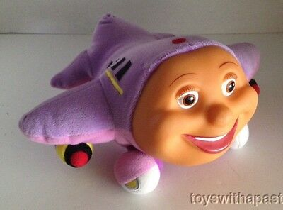 "TRACY Jay Jay Jet Plane 8"" Vinyl Plush Airplane (Non-Electronic) 2000 Puppet Toy"