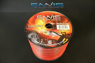 18 Gauge 1000 Ft Red Black Speaker Wire Awg Cable Power Stranded Copper Clad Ee