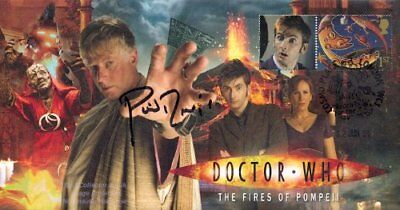 Doctor Who The Fires of Pompeii Collectable Stamp Cover Signed PHIL DAVIS