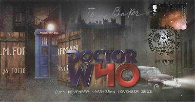 "RARE Doctor Who ""40th Anniversary"" Collectable Stamp Cover - Signed TOM BAKER"