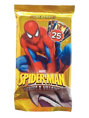 Spiderman Battle Trading Cards Heroes & Villains Pack of 25 New & Sealed
