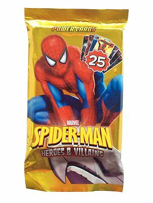 Spiderman Heroes & Villains Energy Battle Cards - Pack of 25 - New & Sealed