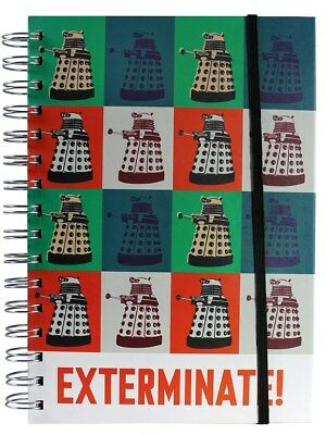 Doctor Who A5 Dalek Exterminate Notebook - Spiral-bound with band closure - NEW