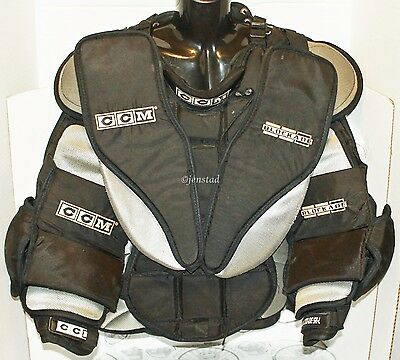 Ccm Ab Blockade Sr Goalie Ice Hockey Goal Black Chest Arm Pad Protector Large