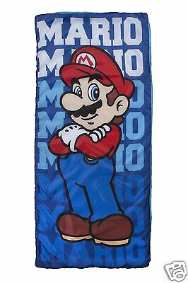 Nintendo Super Mario Kids Sleep-over Sleeping Bag - Great value - NEW