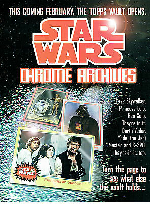Star Wars Chrome Archives Promotional Sell Sheet