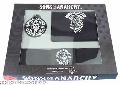 Sons of Anarchy Gift Set - Wallet, Belt & Keyring - Ideal for the SOA fan!