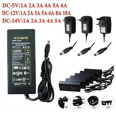 AC100-240V to DC 5V 12V 24V 1A~10A SMD LED Strips Power Supply Charger Adapter