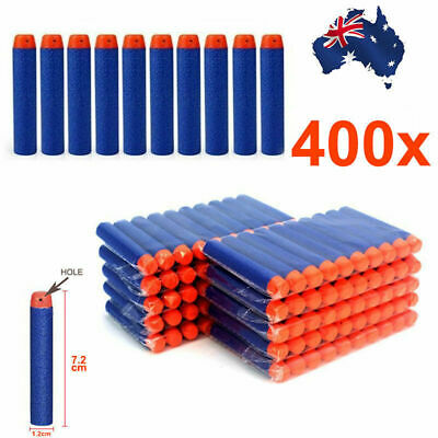 400x Round Head Bullets  Gun Darts Blasters for Elite NERF N-Strike Toy Refill