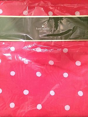 "Kate Spade Charlotte Street Table Runner Hot Coral & White Polka Dots 15"" X 72"""