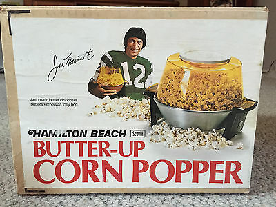 Vintage Joe Namath Endorsed Butter-Up Corn Popper working condition