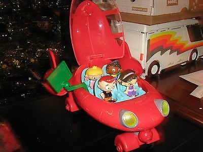 Little Einsteins Rocket ship RARE tested and working 4 charactors & Green Screen