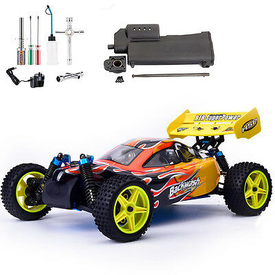 HSP 94166 1/10 4WD RC off Road Nitro Buggy Car 80km + Power Starter + Tools Kit