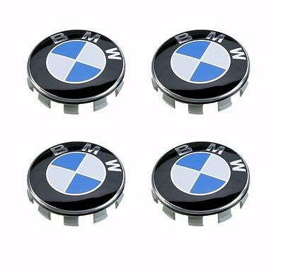 4 Pcs BMW Emblem Logo Badge Hub Wheel Rim Center Cap 68mm Set of 4 grey