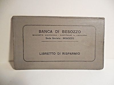 Vintage 1920's Bank Book from Italy