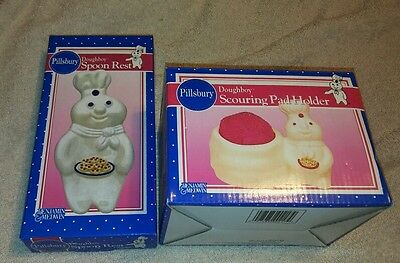 Pillsbury Doughboy Collection  Scouring Pad Holder & Spoon Rest