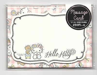 Sanrio Hello Kitty Notecards With Envelopes Stickers Message Cards Bear