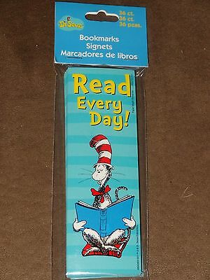 Dr. Seuss Cat In The Hat Read Every Day Bookmarks-36 Per Package-Free Shipping