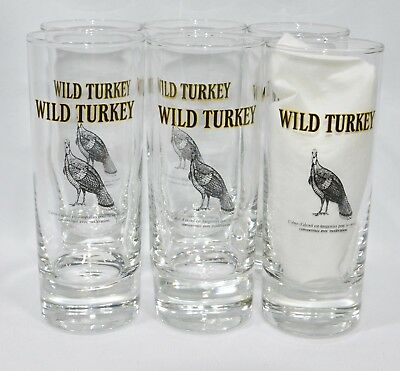 WILD TURKEY BOURBON 6 Verres 20 cl tube NEUF