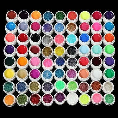 72 Pots Mix Cover Color UV Gel Acrylic Builder Polish Set Nail Art Tips Manicure