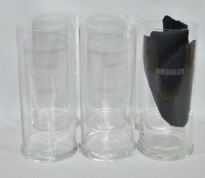 ABSOLUT VODKA 6 Verres long-drink Design Berit Johansson Ritzenhof Cristal NEUF