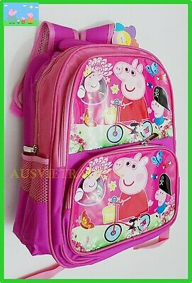BNWT Brand new kids Peppa Pig Large Bag Preschool Daycare Girls Backpack