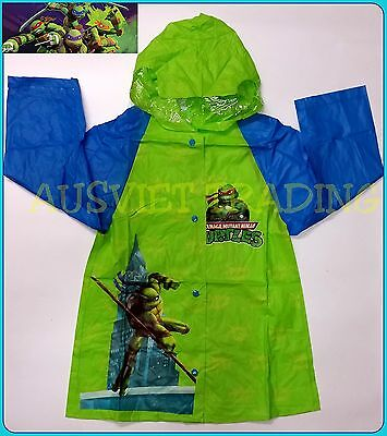 Brand new TMNT Teenage Mutan Ninja Turtles  boys Raincoat new release rain coat