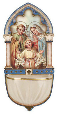 Holy Family Holy Water Font - Catholic Religious Candles Statues Pictures Listed